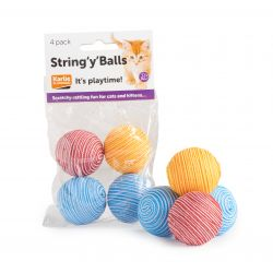 stringy cat balls